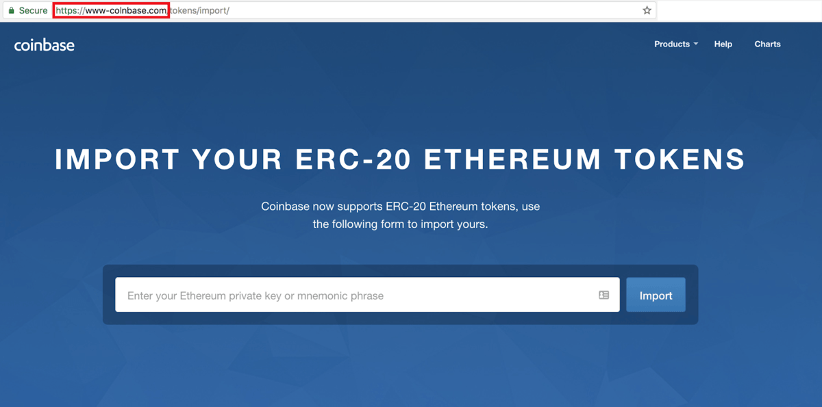 fake coinbase site