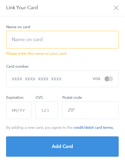 Coinbase Debit Card Linking