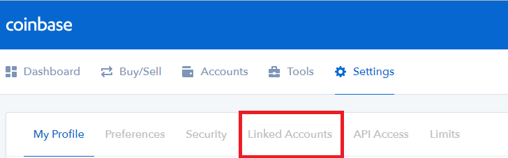 coinbase linked accounts