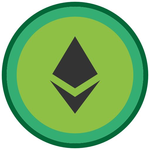 green ethereum icon