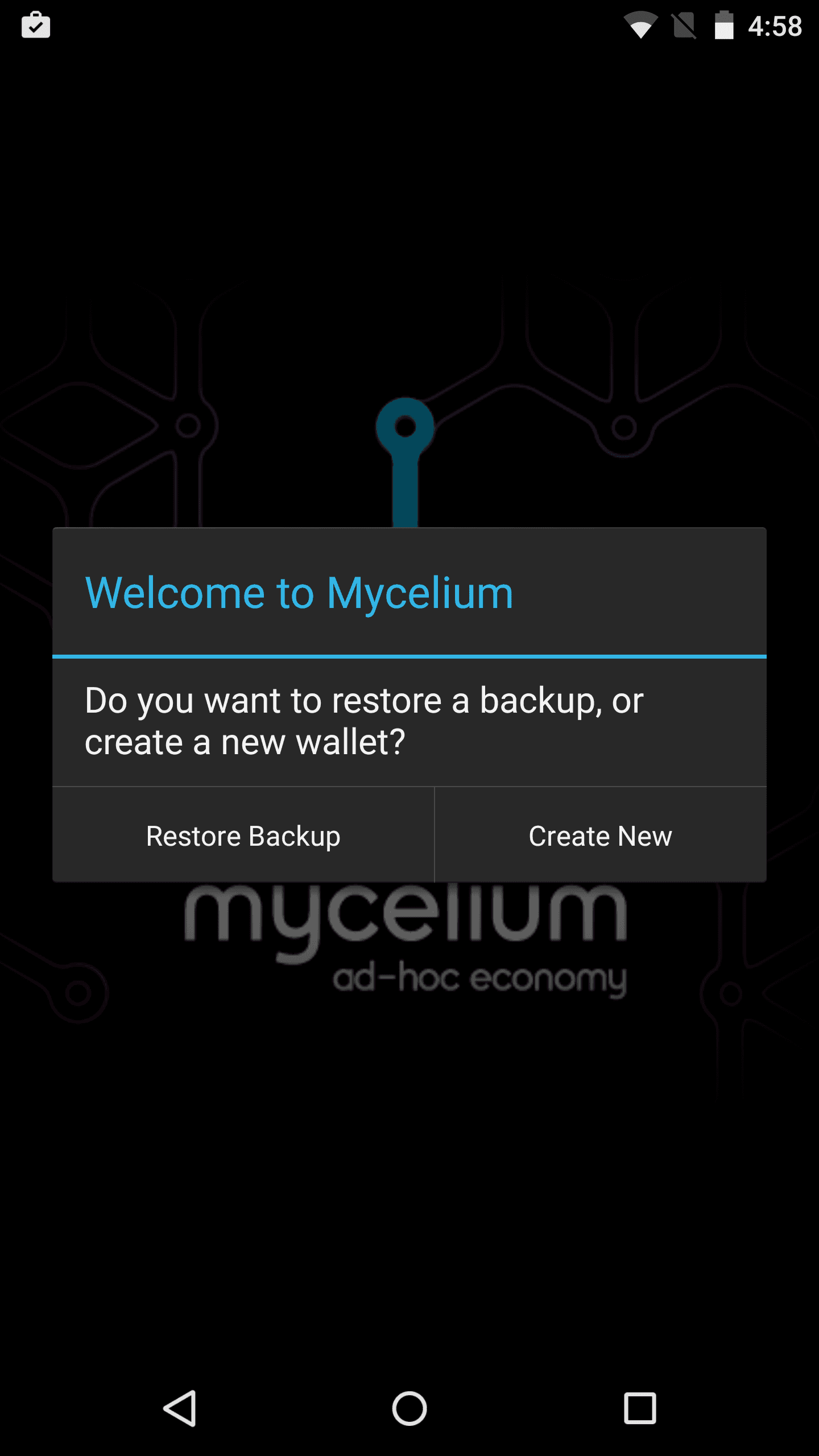 New Mycelium account