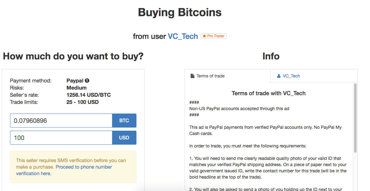 1 way to buy bitcoin with paypal instantly 2018 guide buy bitcoin on localbitcoins using paypal ccuart Images