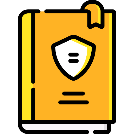 yellow book of legal terms icon