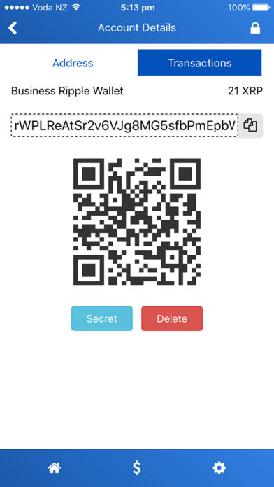 ripple ios iphone wallet