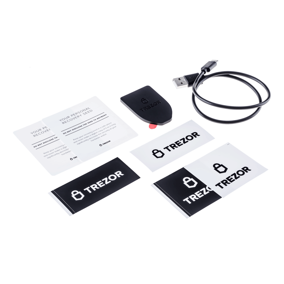 trezor t box contents transparent