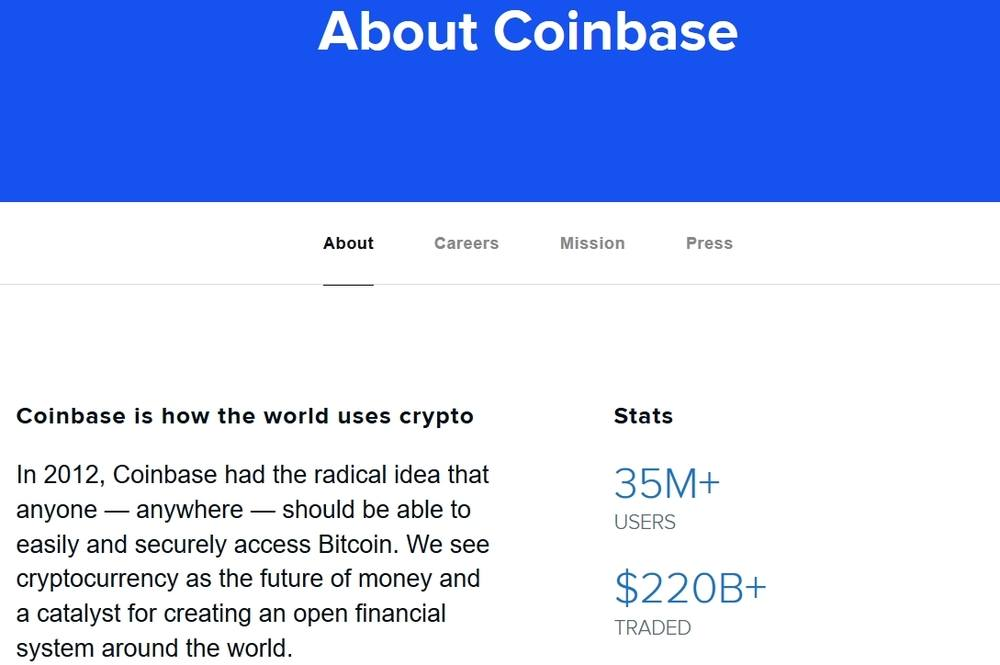 amount of coinbase users