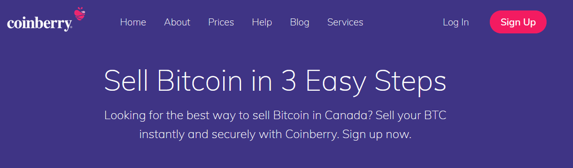 coinberry sell page