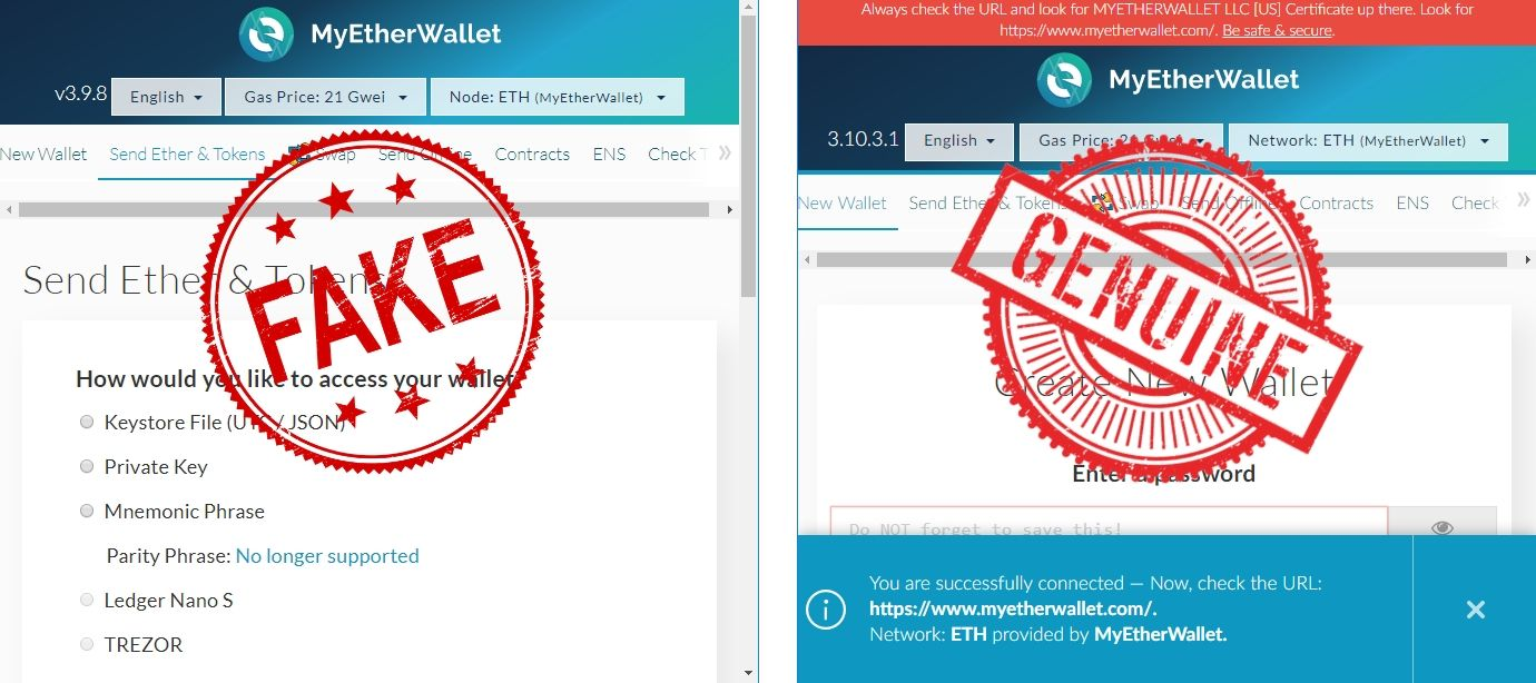 fake myether wallet