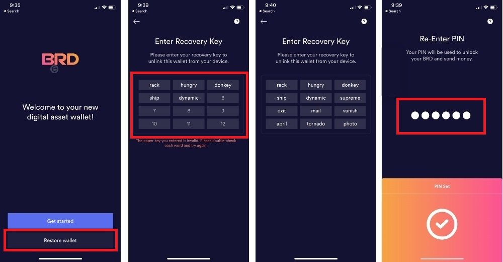 recover brd wallet