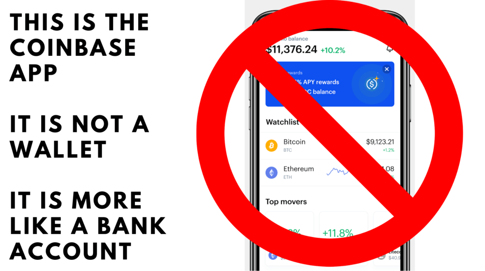 coinbase is not a wallet