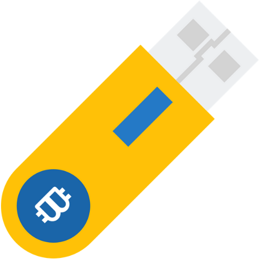 yellow hardware wallet icon