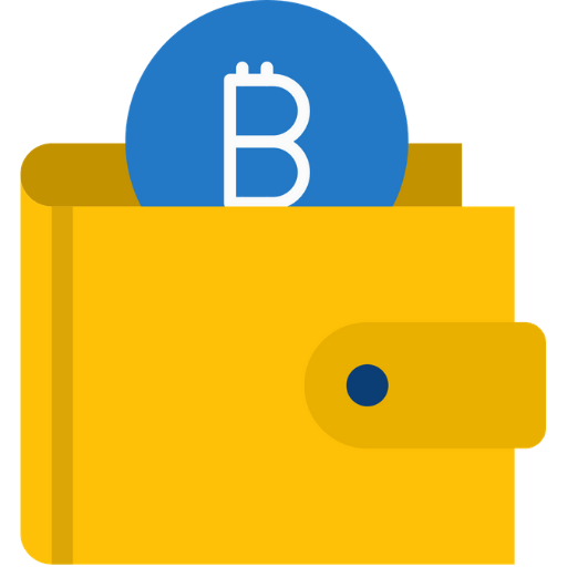 yellow bitcoin wallet icon