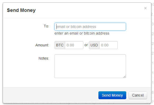 Sending Coins With Coinbase
