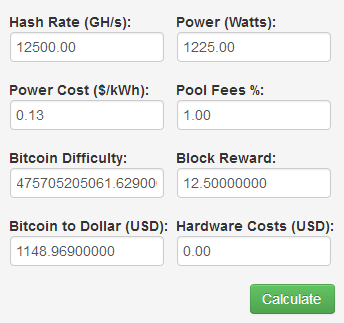 Earning interest on bitcoin miner