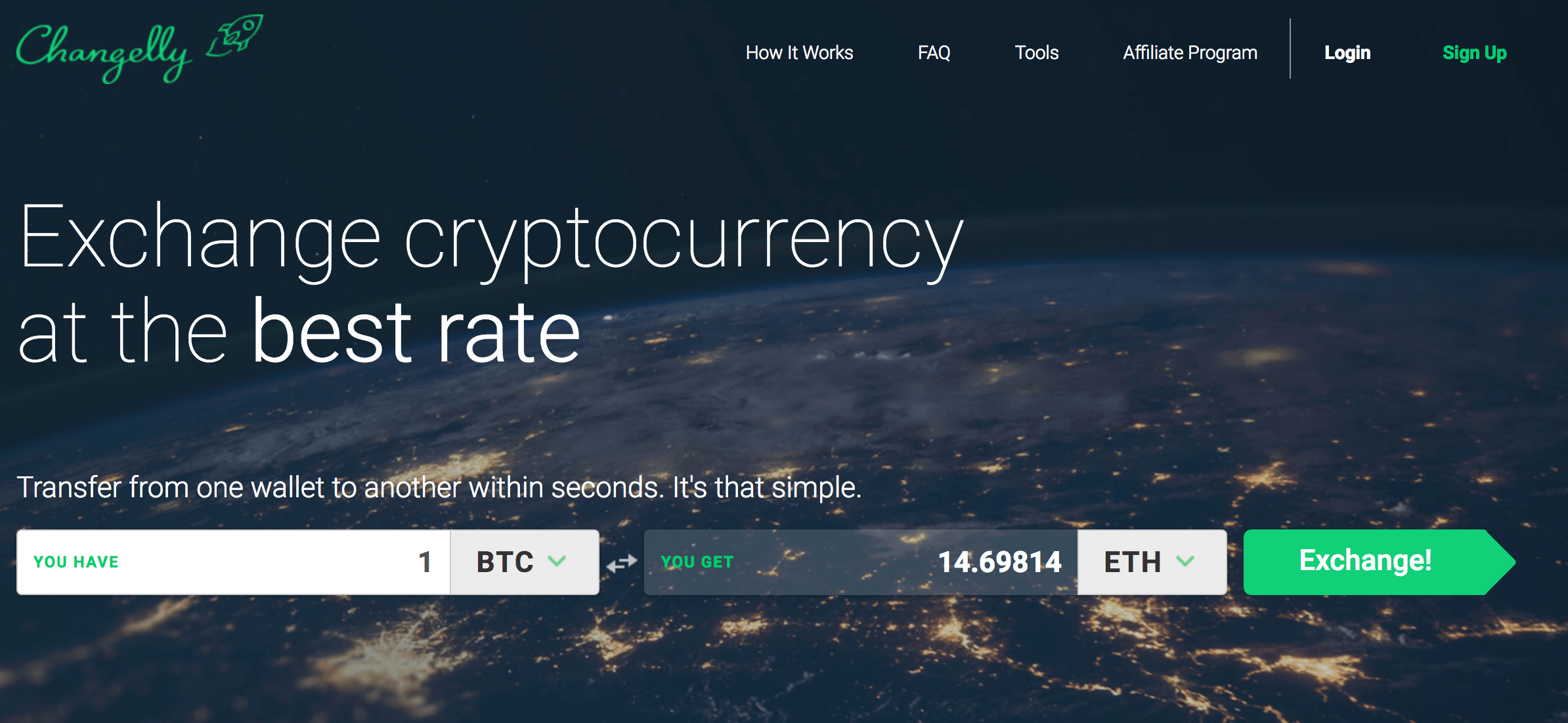 changelly home page