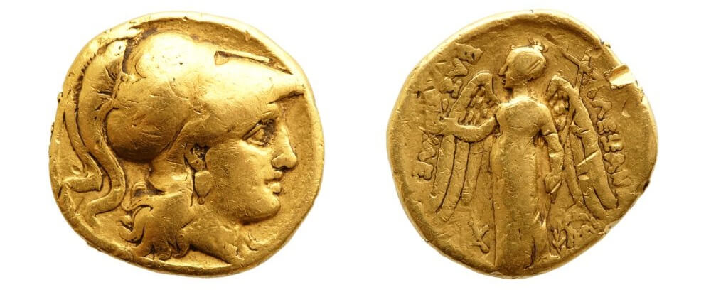 old roman gold coin